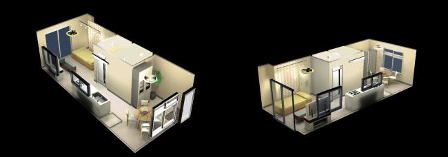 3Dパースにてリノベーション後のイメージと工事内容をわかりやすくご提案