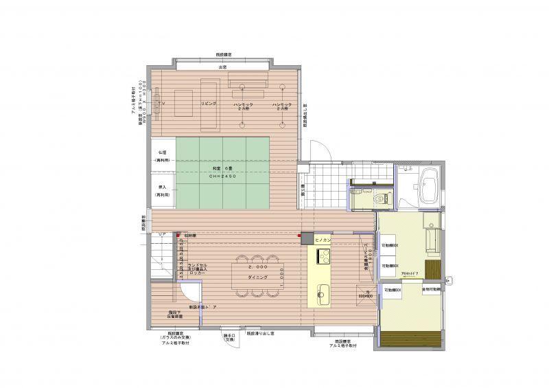 施工後図面1階